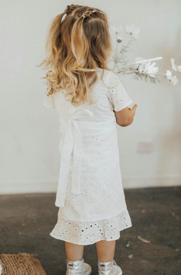 White Matching Mother Daughter Dress